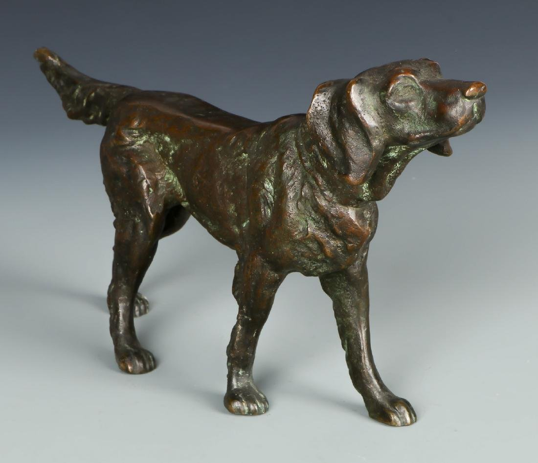American School Bronze Dog Sculpture - 2