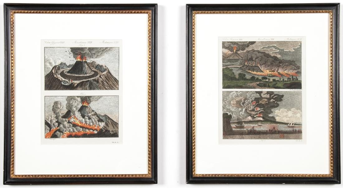 2 Antique Hand-colored Engravings