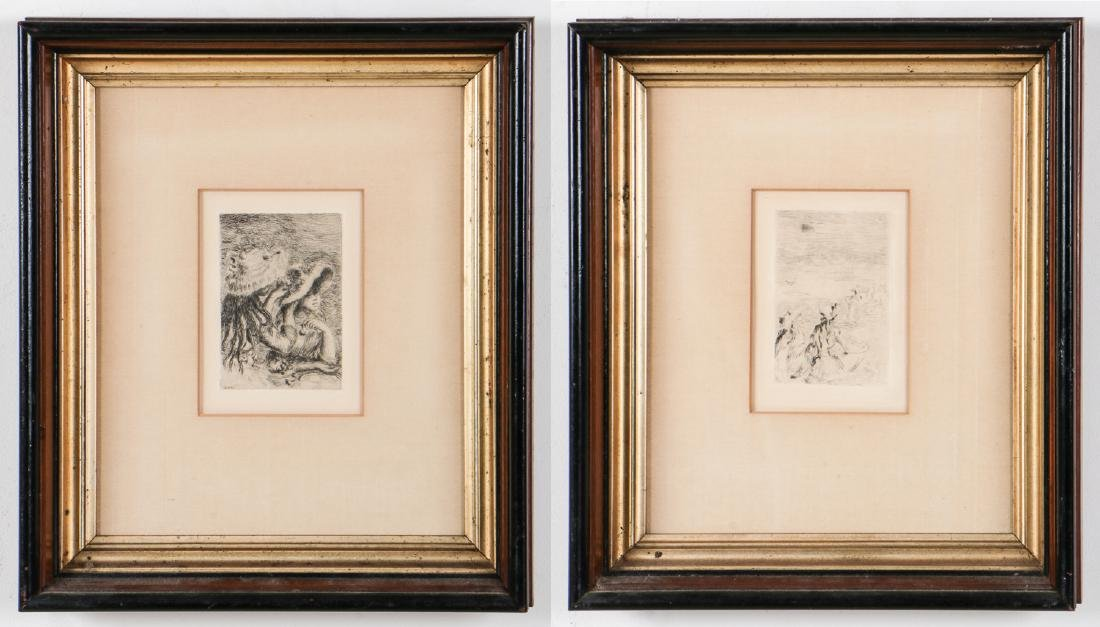 2 Etchings After Auguste Renoir