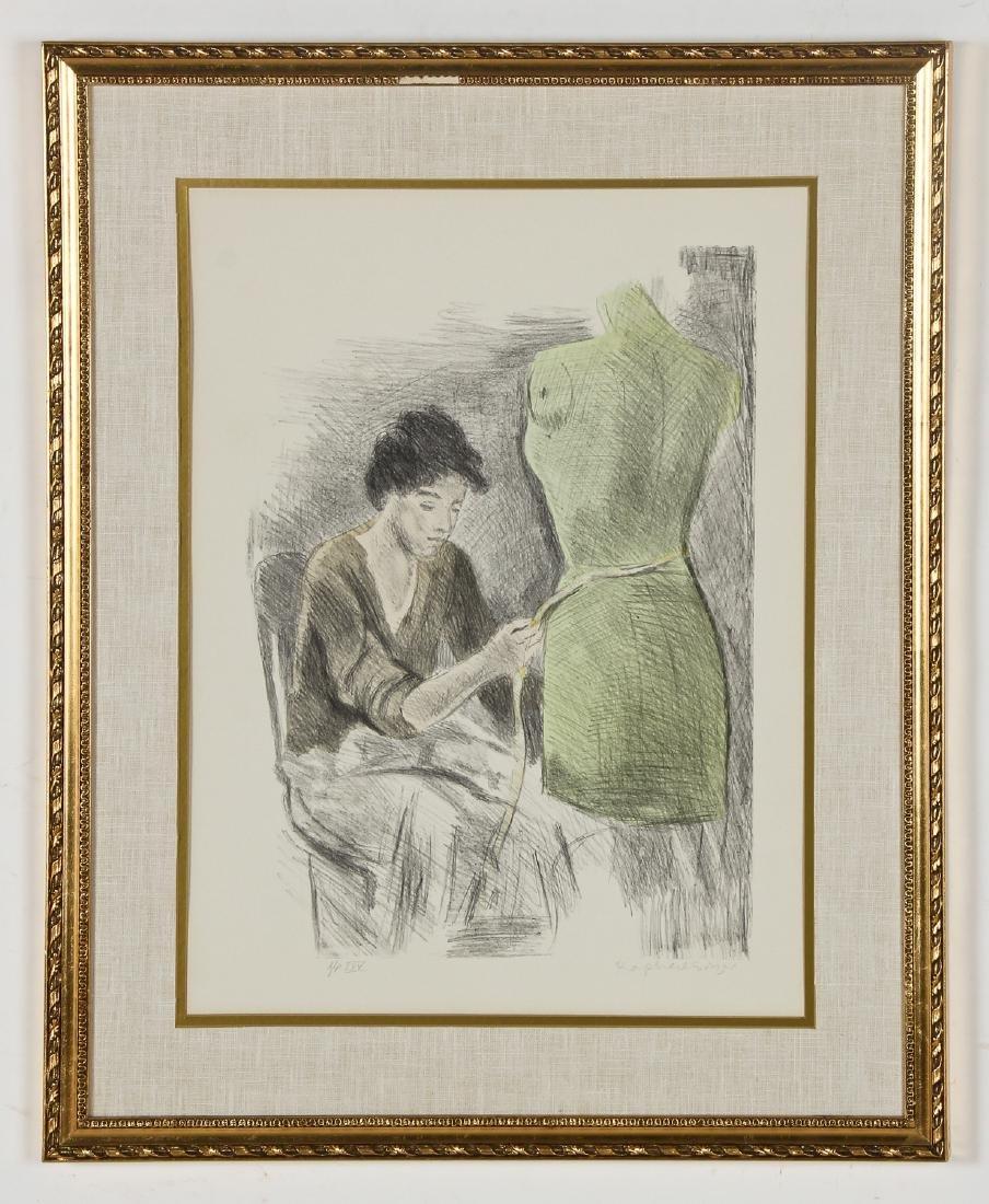 "Raphael Soyer (American, 1899-1987) ""Seamstress"""