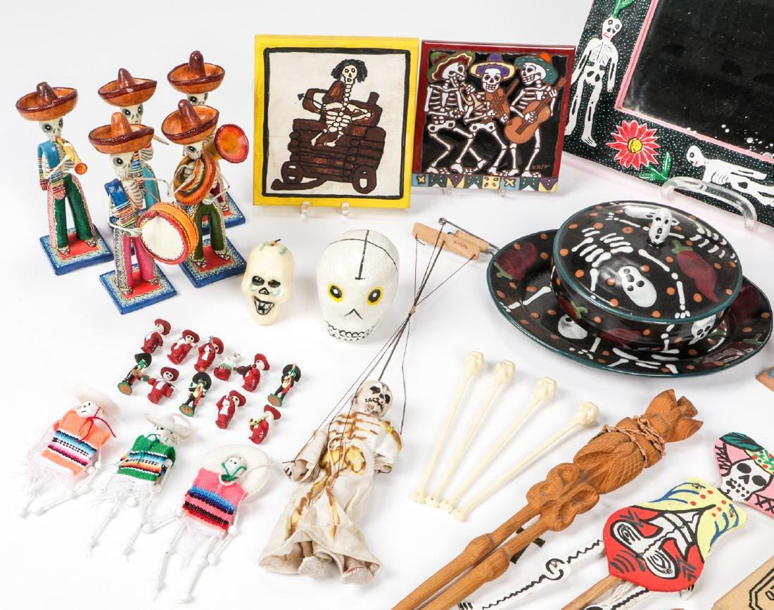 Large Estate Collection of Misc. Mexican Folk Art Items - 2