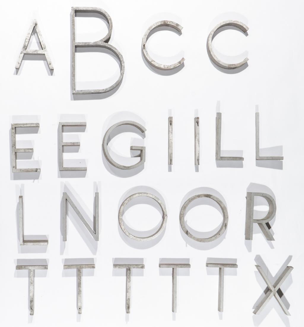 22 Vintage Industrial Sign Letters