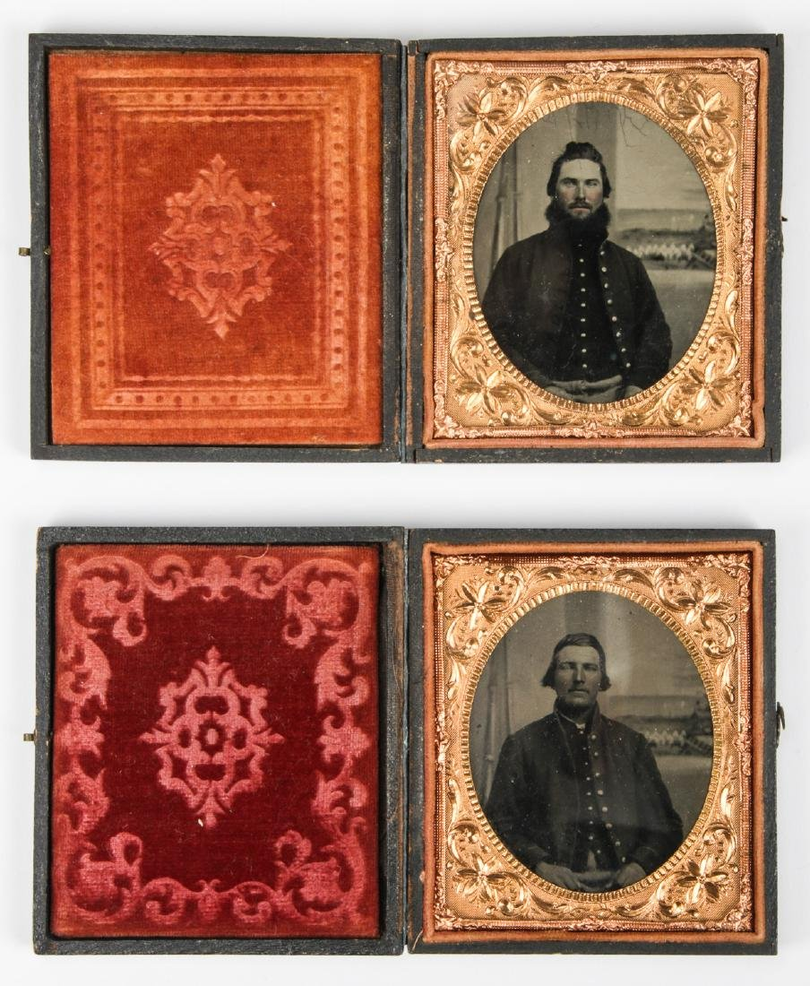 2 Civil War Tintype Portraits, c. 1860's