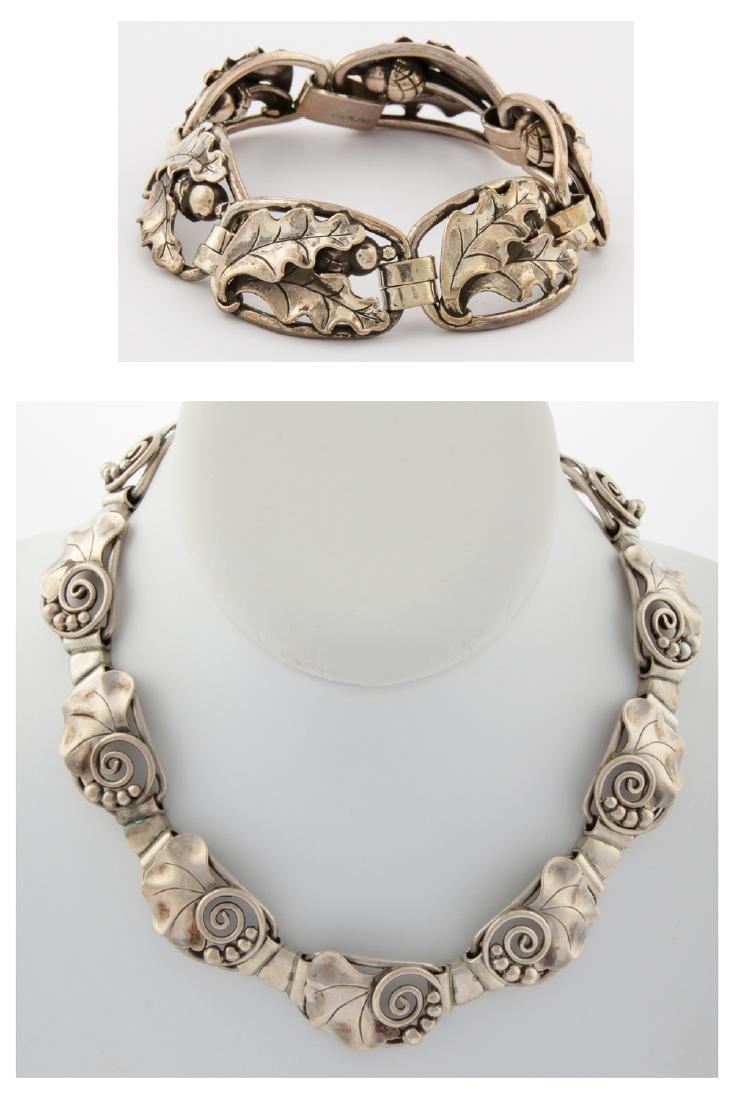 Fine Silver Bracelet and Necklace