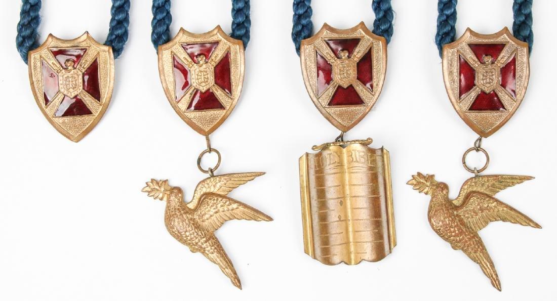 Group of 8 Masonic or Odd fellows Ceremonial Pendant - 3
