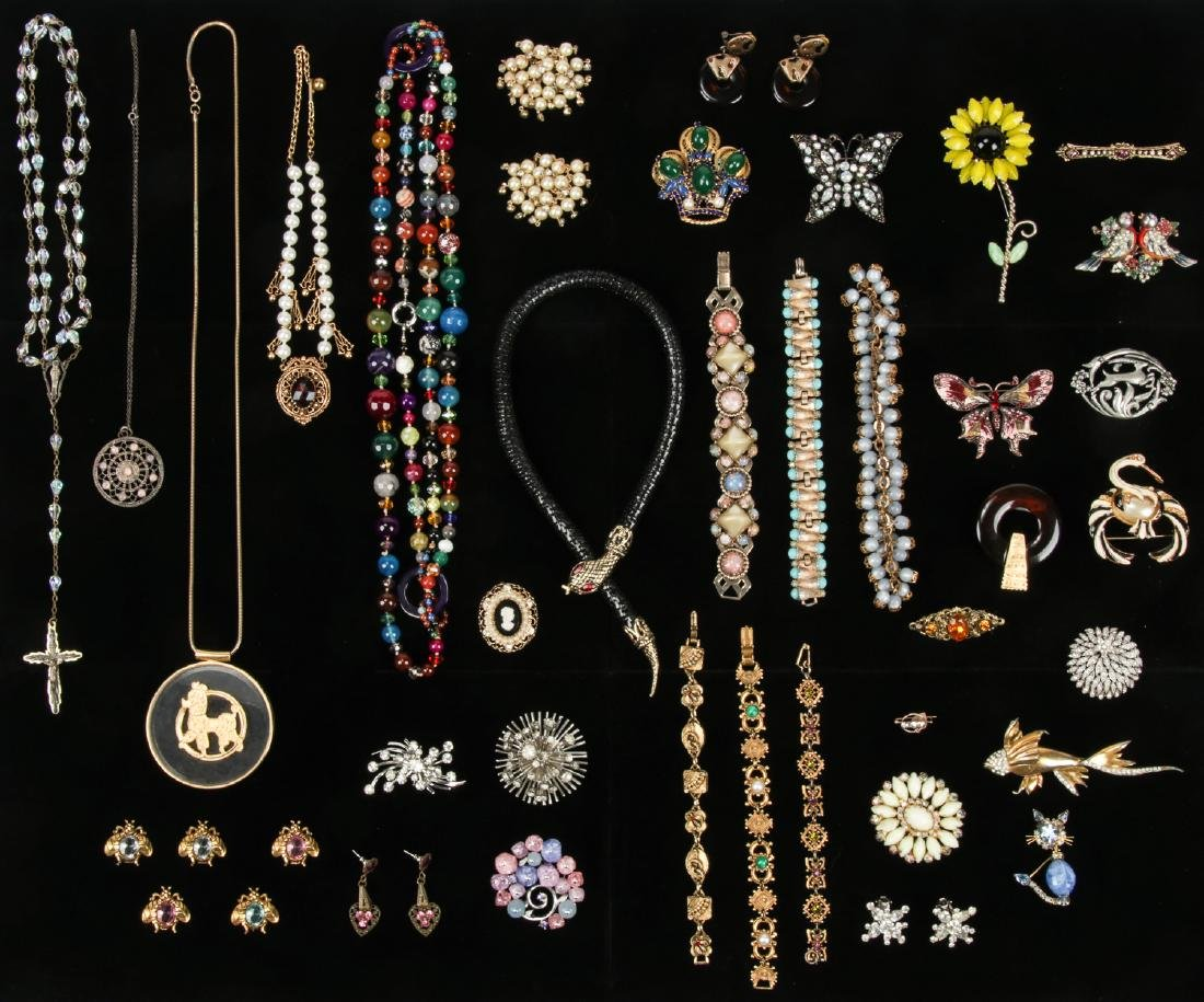 Lot Vintage Costume Jewelry, including Florenza and