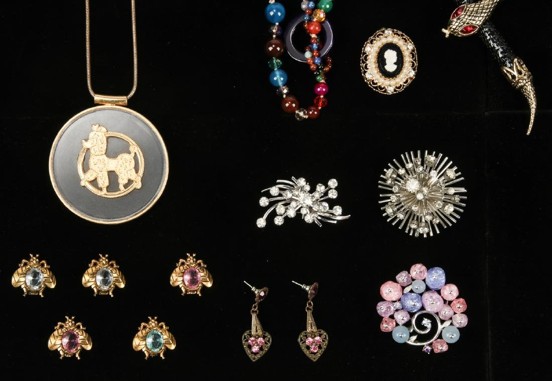 Lot Vintage Costume Jewelry, including Florenza and - 5
