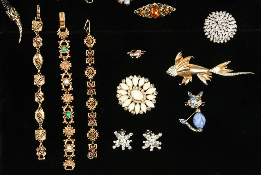 Lot Vintage Costume Jewelry, including Florenza and - 6
