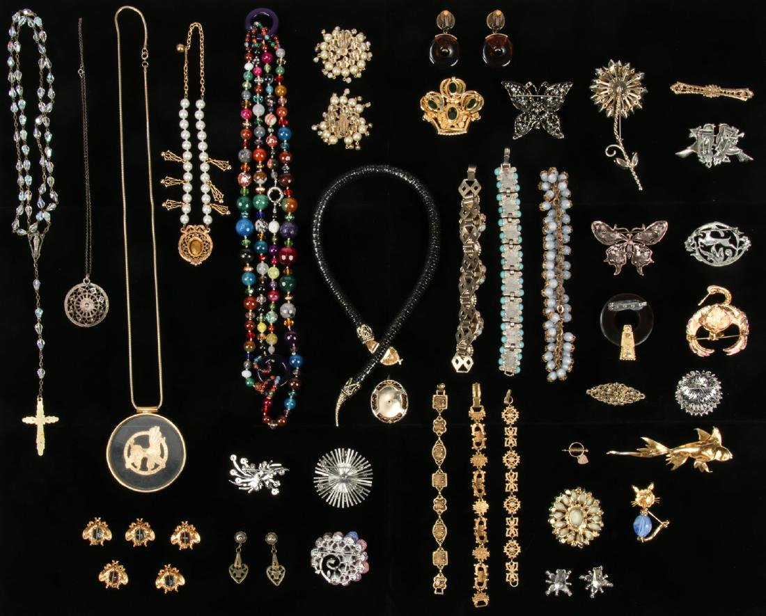 Lot Vintage Costume Jewelry, including Florenza and - 7