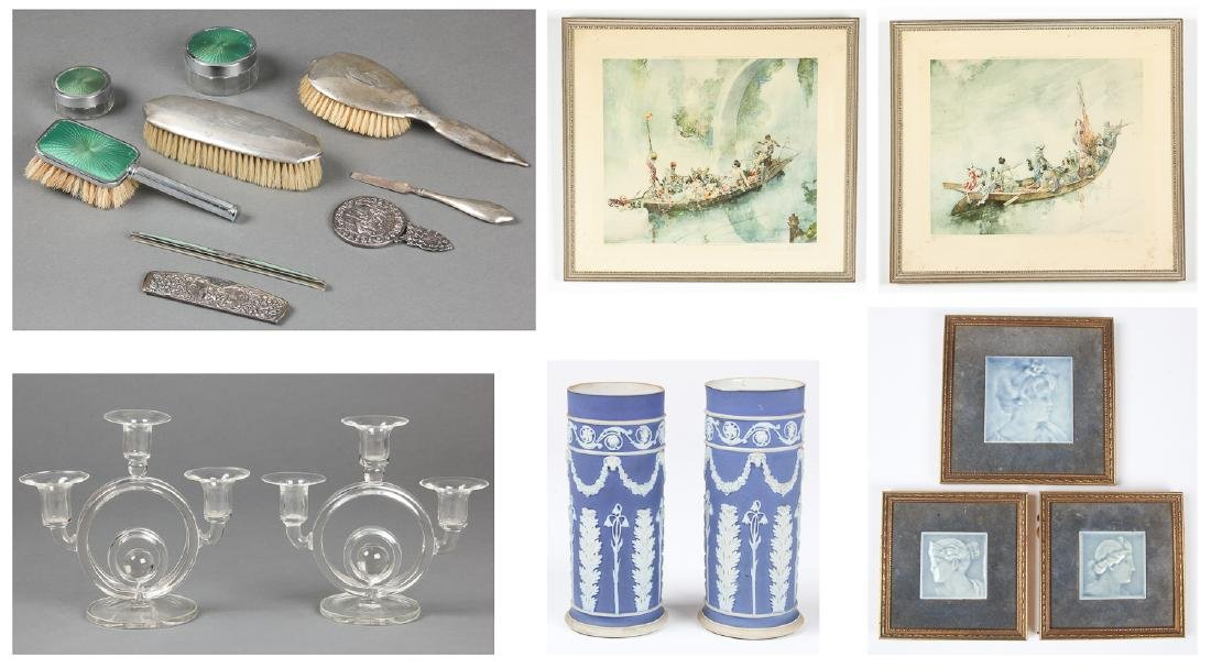 Estate Decorator Lot: Wedgewood Jasperware, Frost and