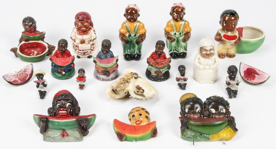 18 pc Black Americana Memorabilia Collection.