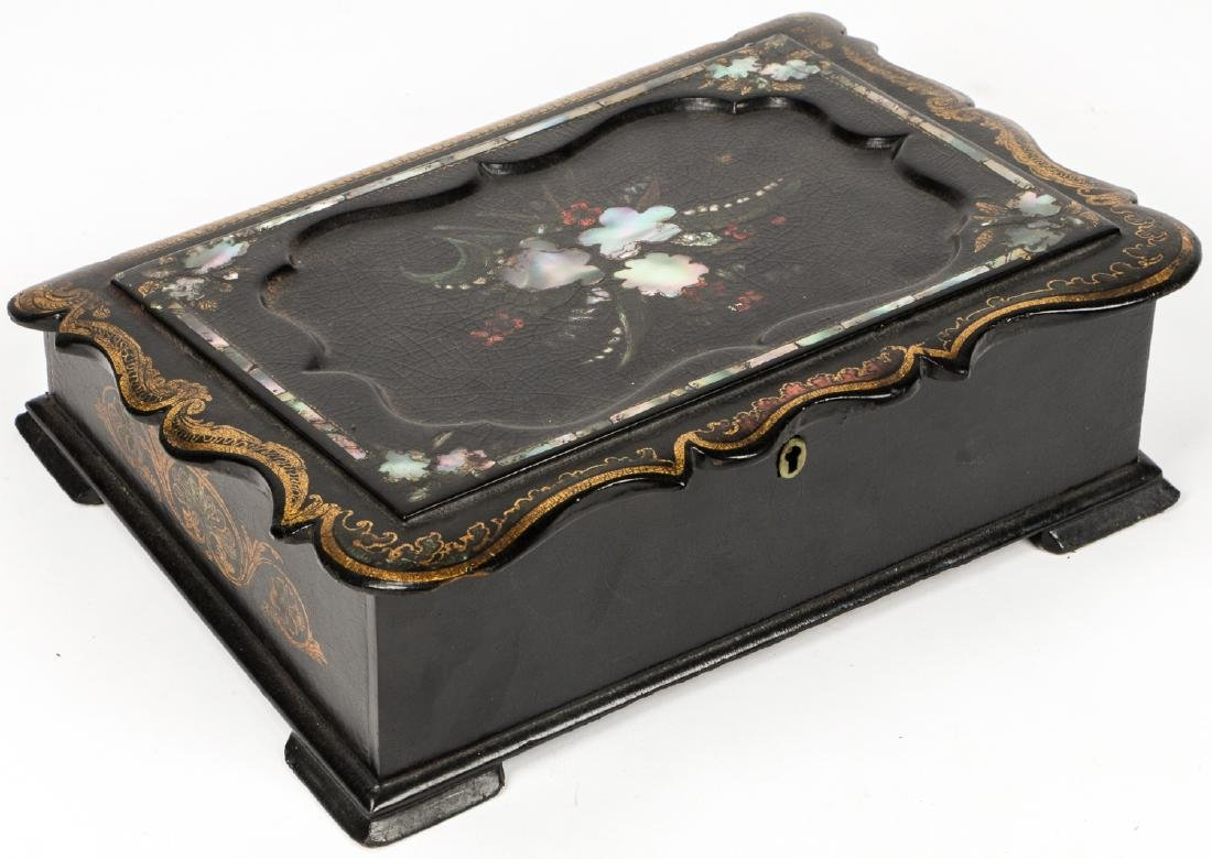 Antique Lap Desk w/ Mother of Pearl Inlay