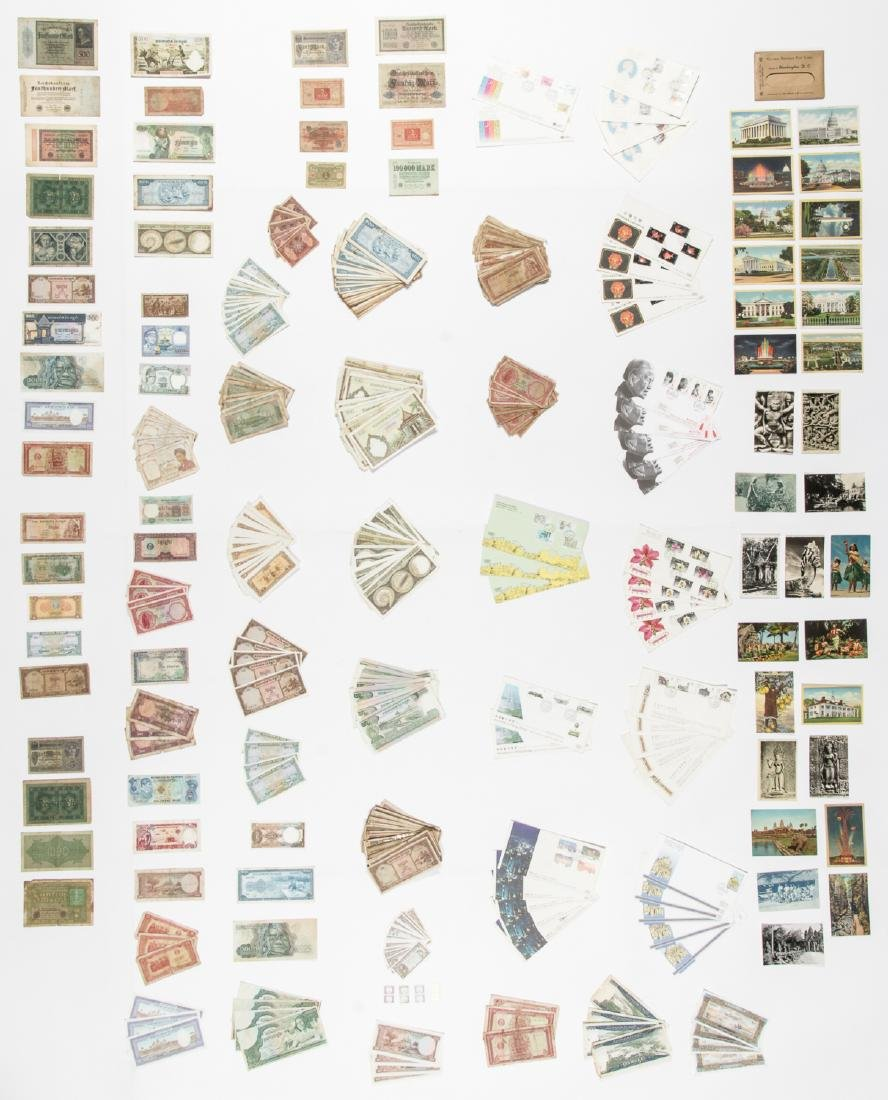 Travel Archive of Paper Money, Stamps, and Postcards,