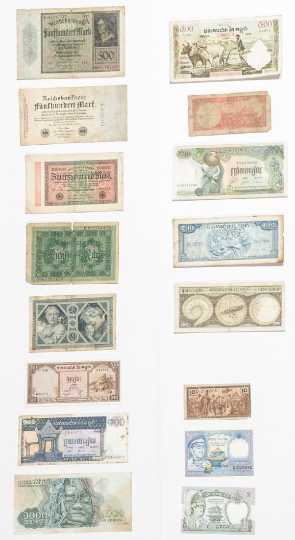 Travel Archive of Paper Money, Stamps, and Postcards, - 2
