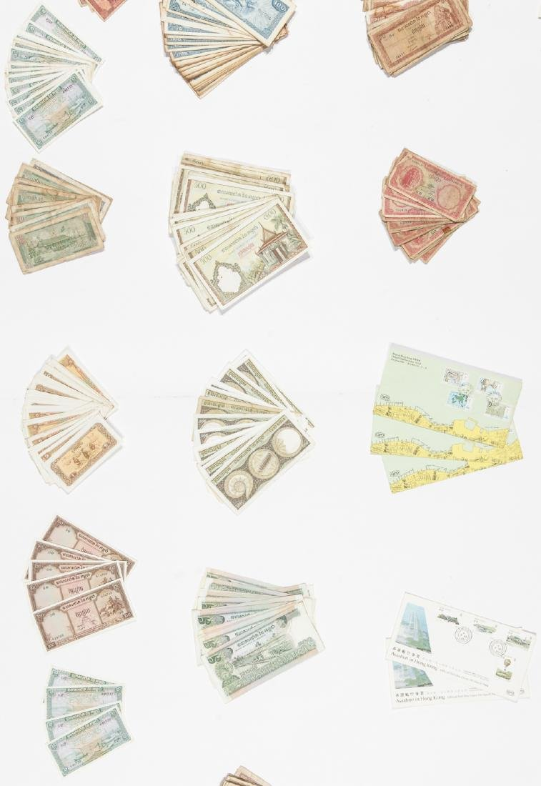 Travel Archive of Paper Money, Stamps, and Postcards, - 6