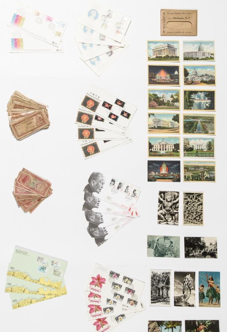 Travel Archive of Paper Money, Stamps, and Postcards, - 8