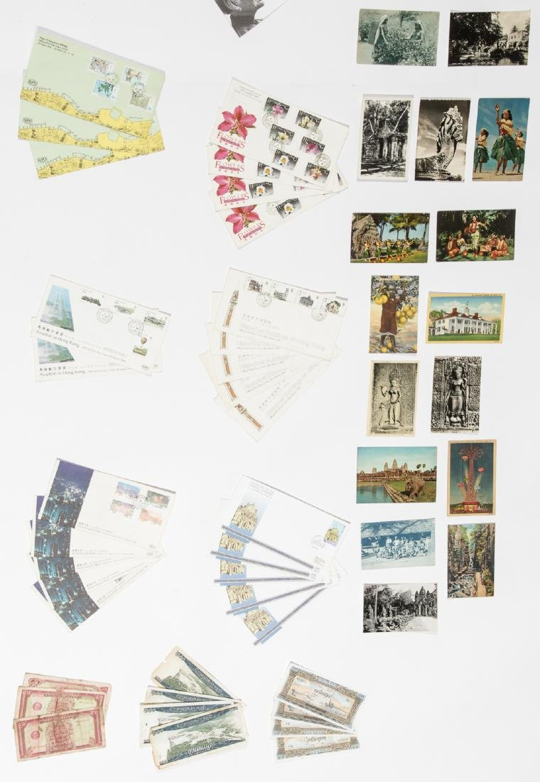 Travel Archive of Paper Money, Stamps, and Postcards, - 9