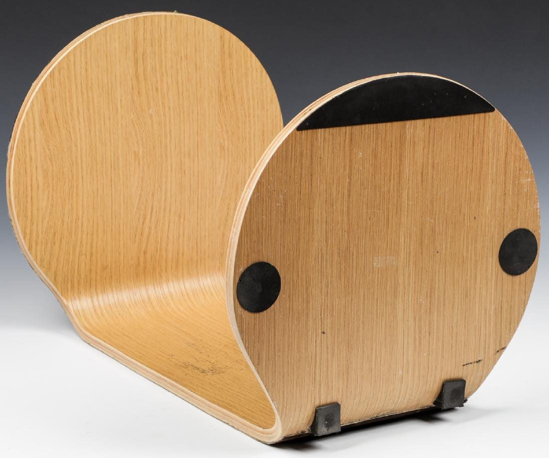 Modern Hide Covered Side Table - 4