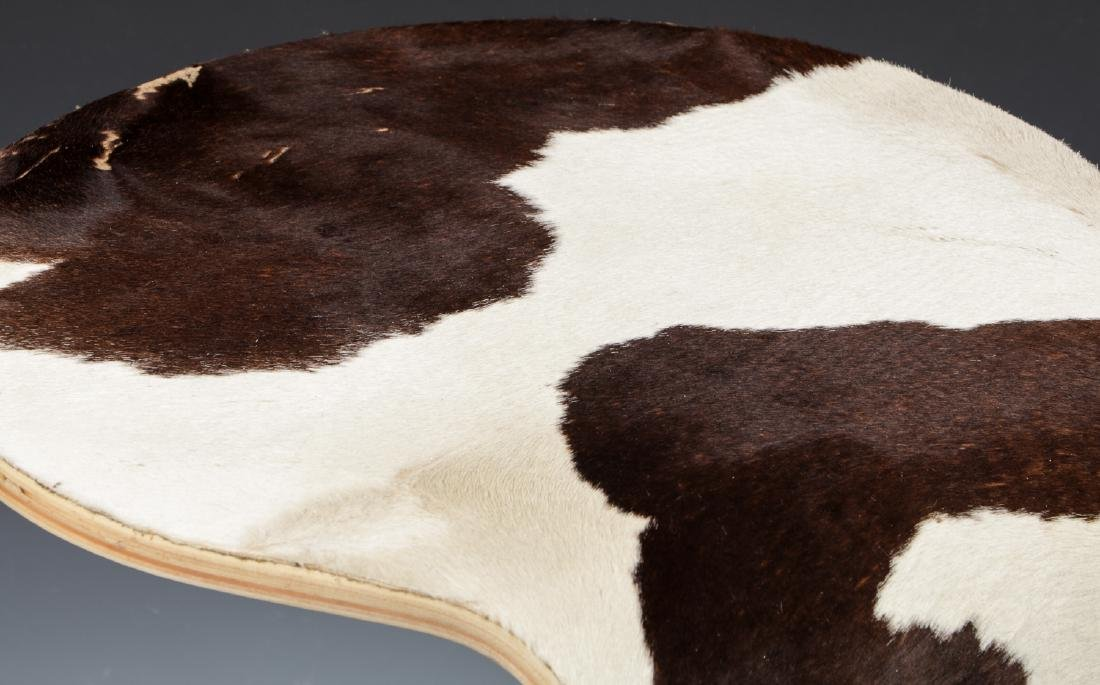 Modern Hide Covered Side Table - 5