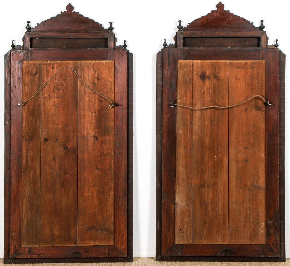 Pair of Old Syrian Wood and Inlay Mirrors - 5