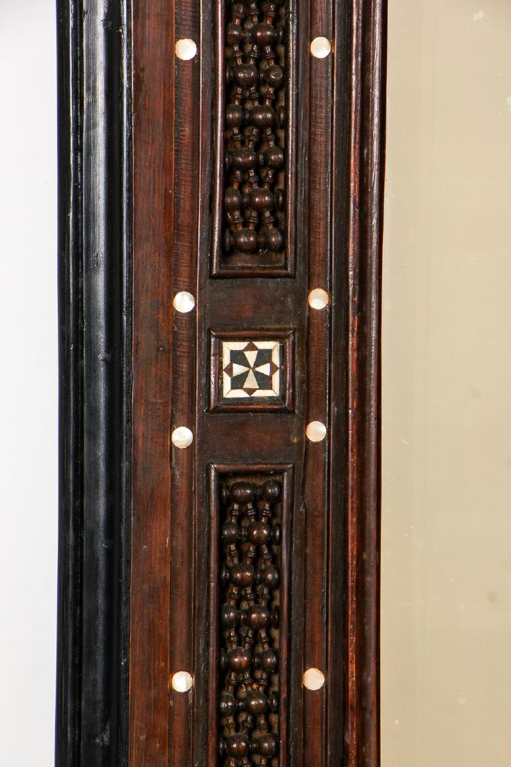 Pair of Old Syrian Wood and Inlay Mirrors - 9