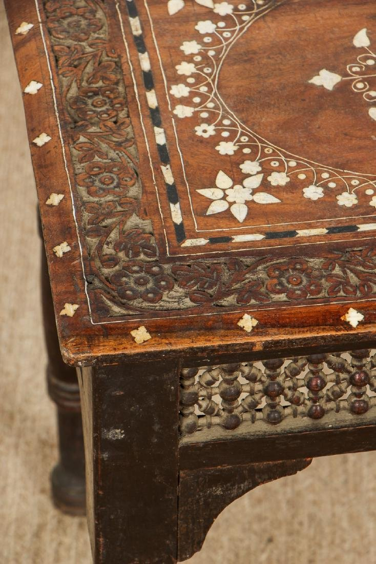 Old Syrian Wood and Inlay Side Table - 2