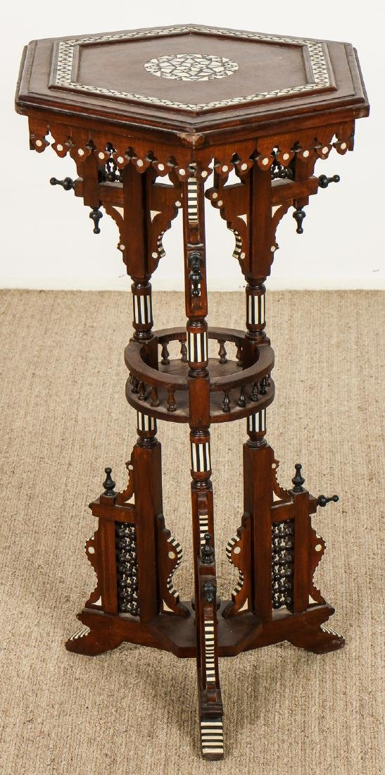 Old Syrian Wood and Inlay Table Stand