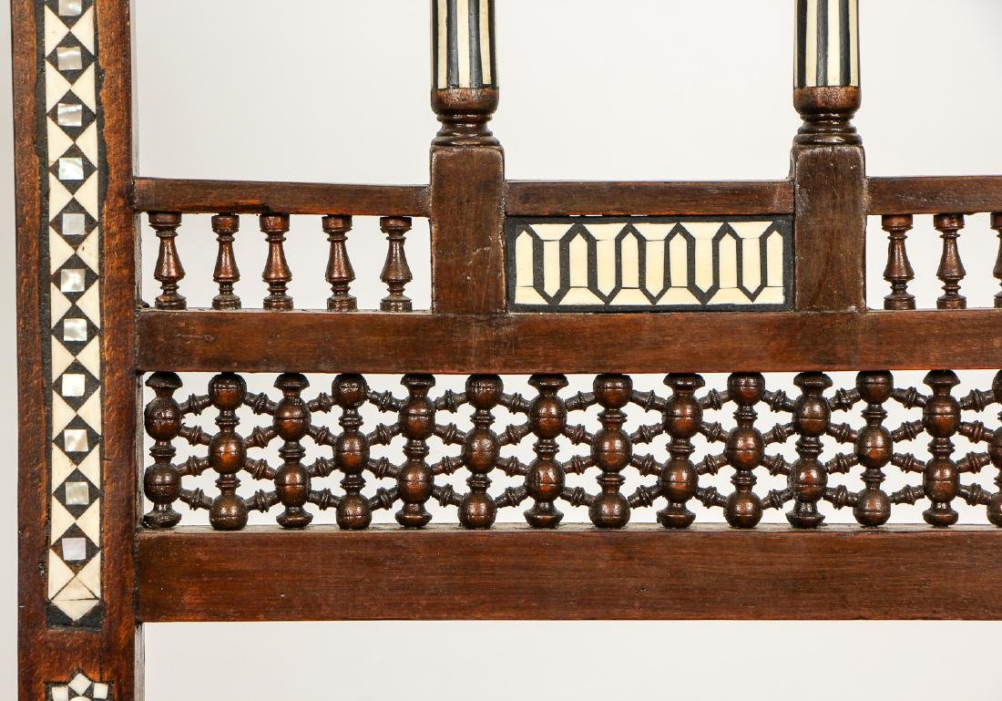 Pair of Old Syrian Wood and Inlay Side Chairs - 5