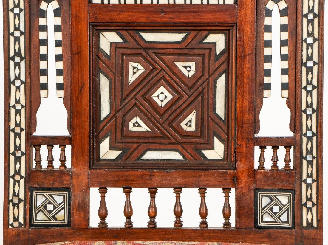 Set of 5 Old Syrian Wood and Inlay Armchairs - 4