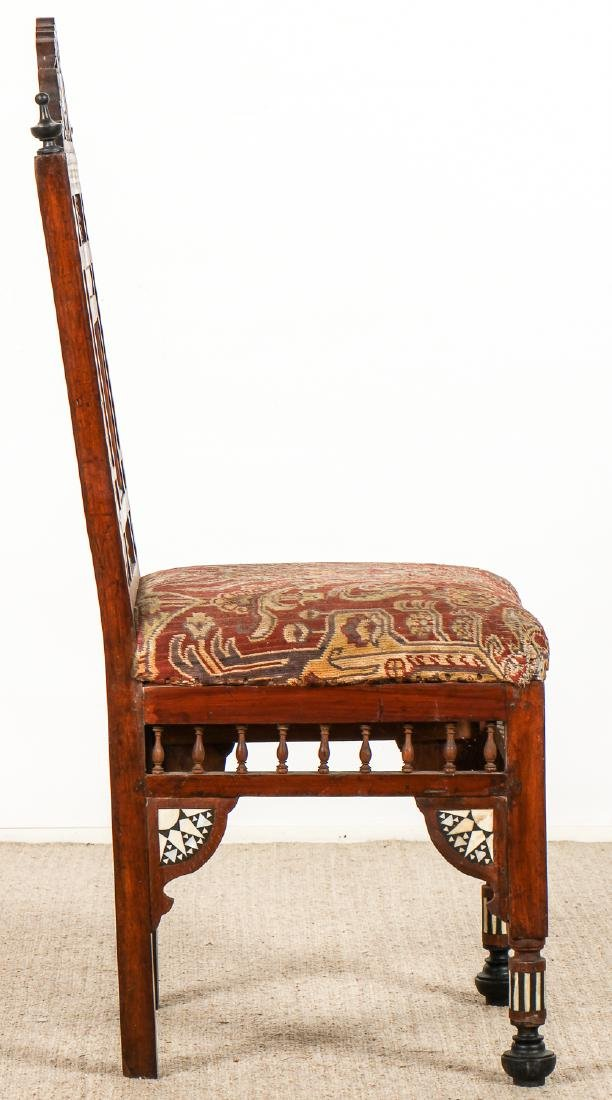 Set of 5 Old Syrian Wood and Inlay Armchairs - 6
