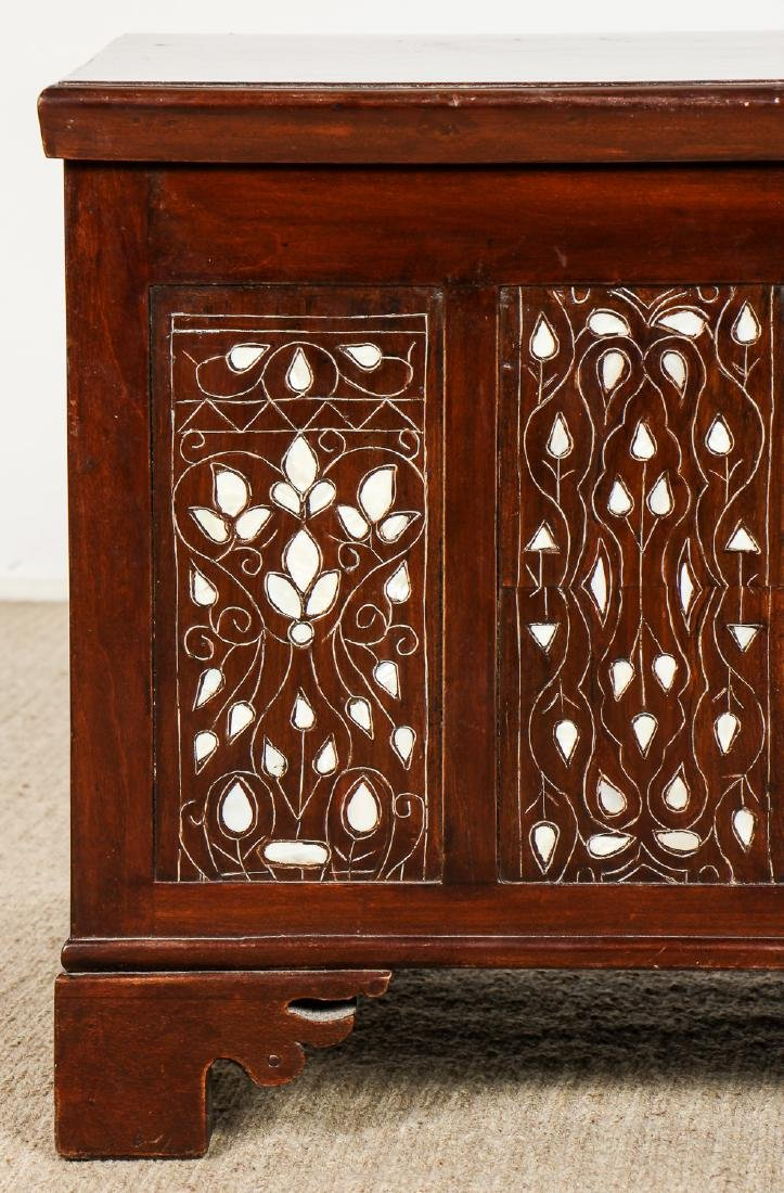 Old Syrian Wood and Inlay Blanket Chest - 2