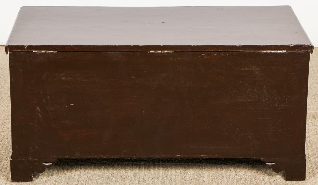 Old Syrian Wood and Inlay Blanket Chest - 7