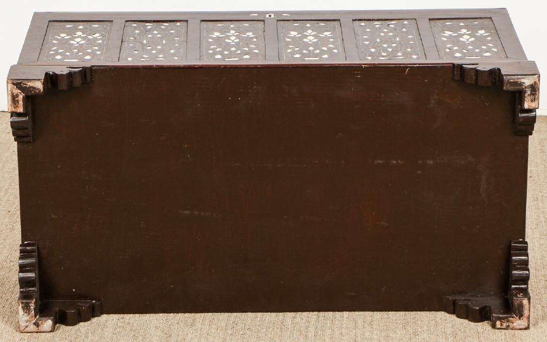 Old Syrian Wood and Inlay Blanket Chest - 8
