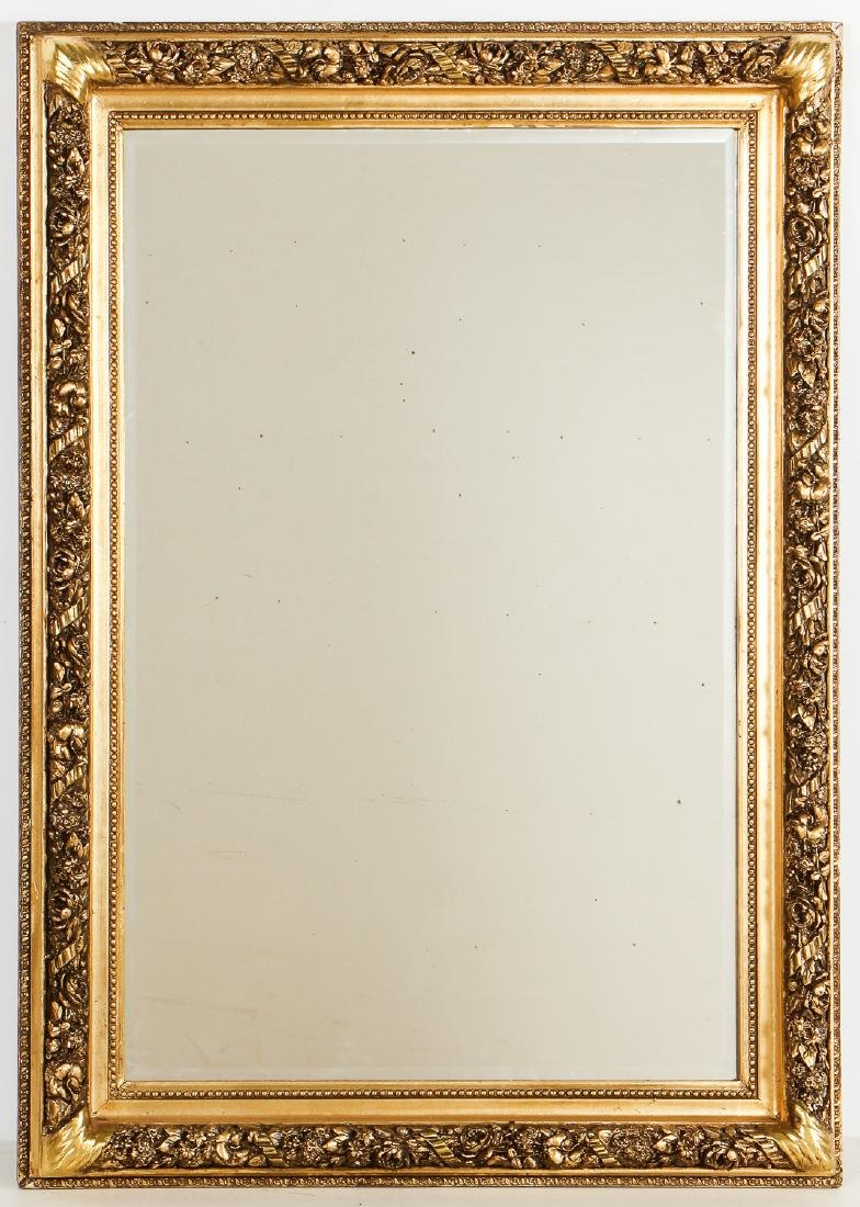 Old Syrian Carved Gilt Mirror