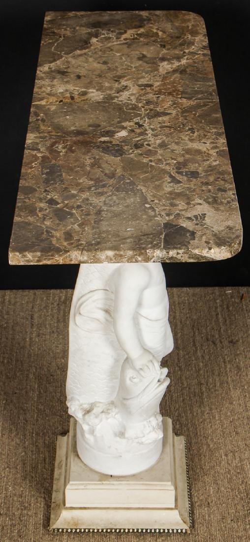 Marble Top Conole Table w. Putti Standard - 4