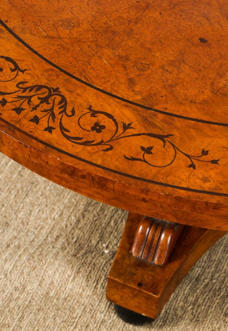 Regency Style Inlaid Wood Marquetry Coffee Table - 3