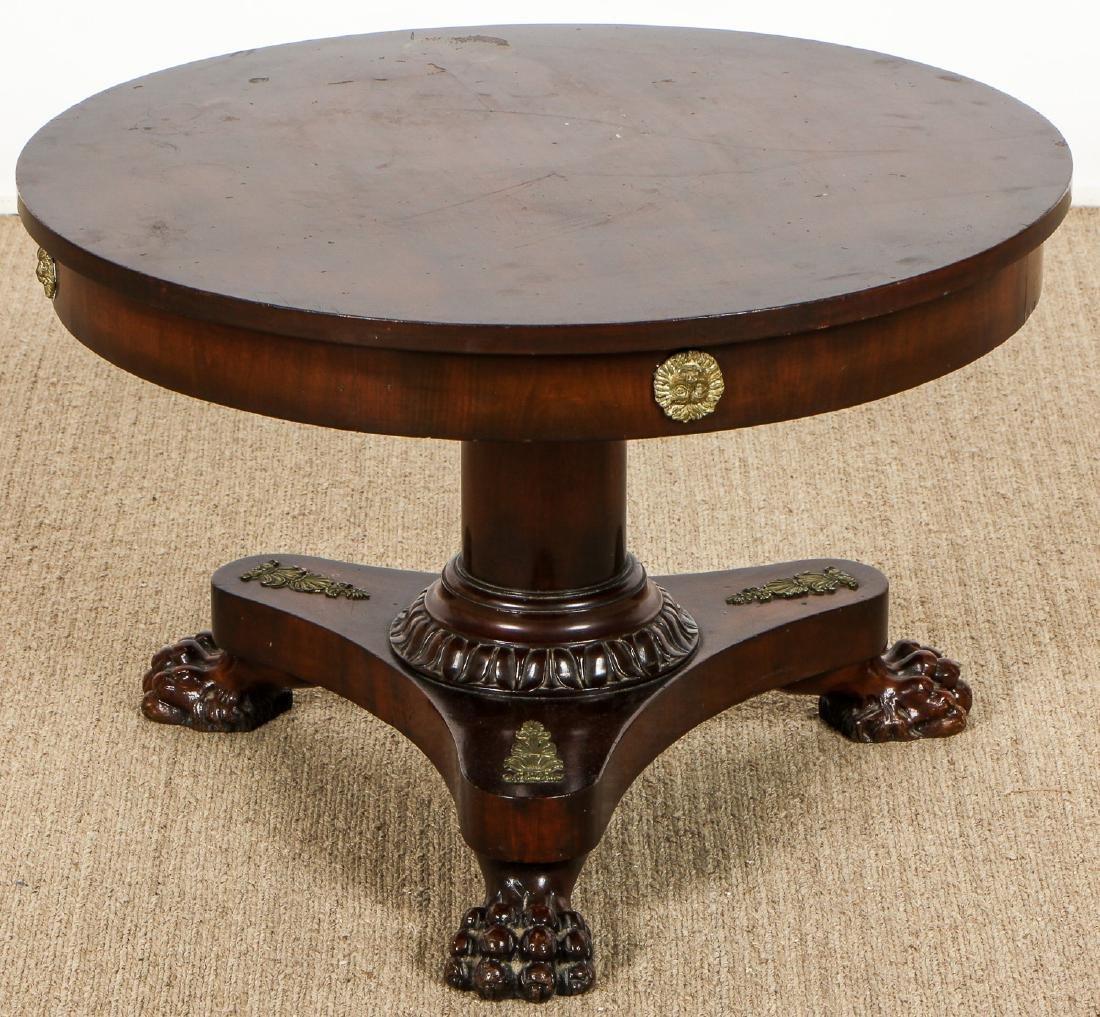 Regency Style Small Clawfoot Mahogany Table w.