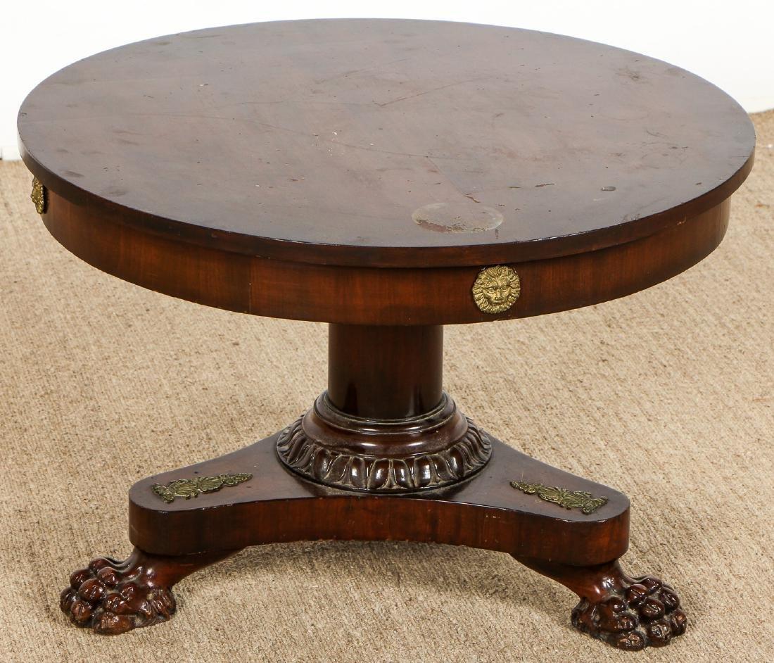 Regency Style Small Clawfoot Mahogany Table w. - 4