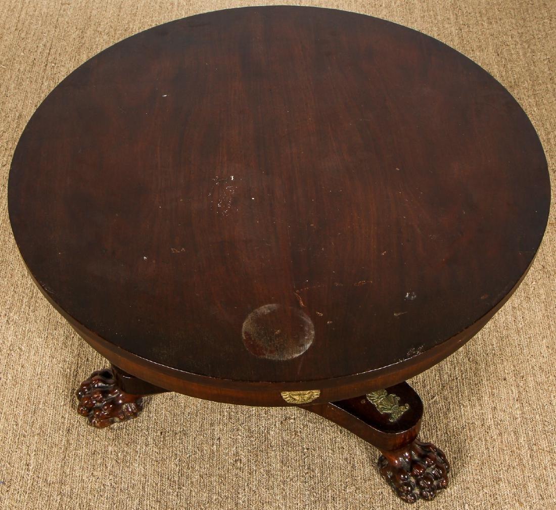 Regency Style Small Clawfoot Mahogany Table w. - 5