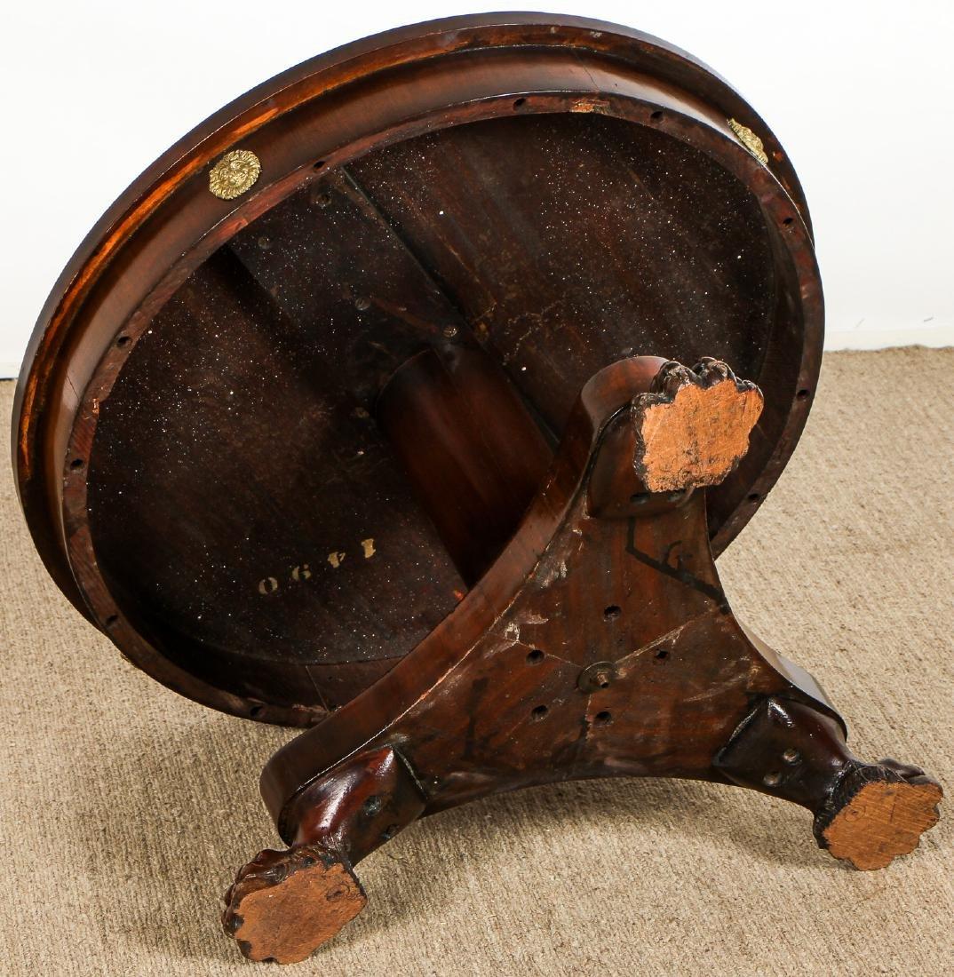 Regency Style Small Clawfoot Mahogany Table w. - 6