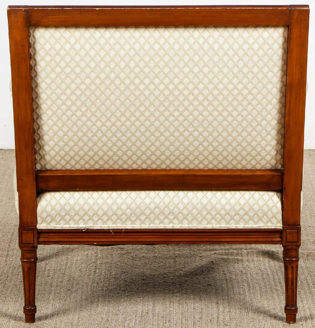2 Continental Wood Upholstered Armchairs - 10