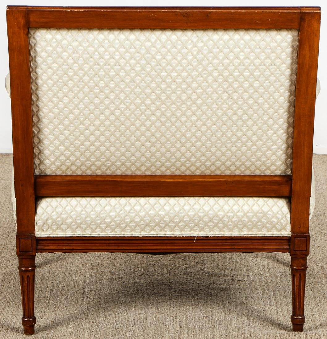 2 Continental Wood Upholstered Armchairs - 6