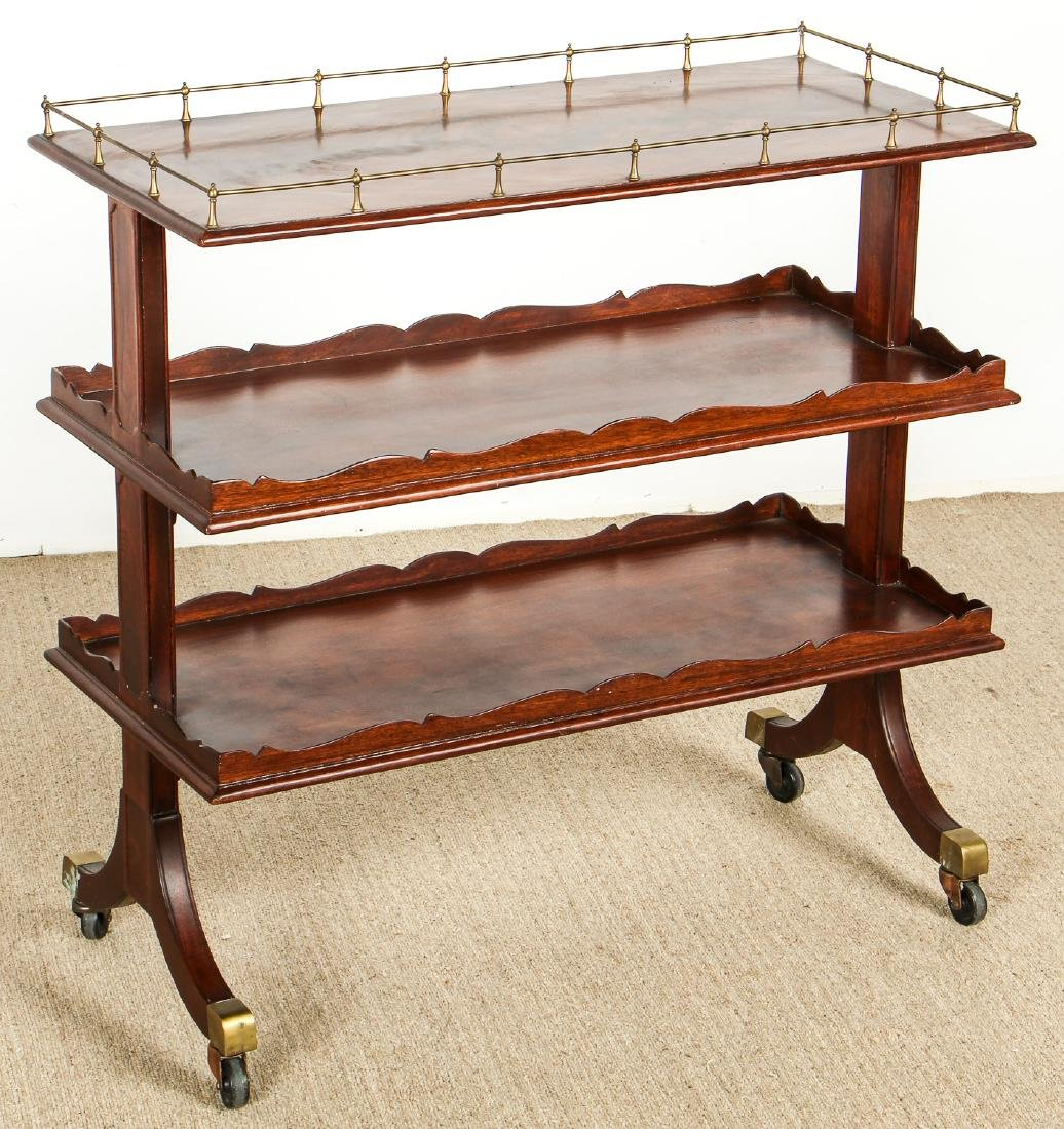 English Regency Style Tri-Level Serving Table