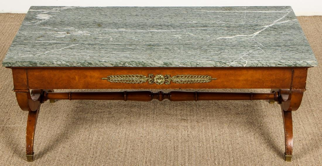 Continental Marble Top Coffee Table with Ormolu Mounts