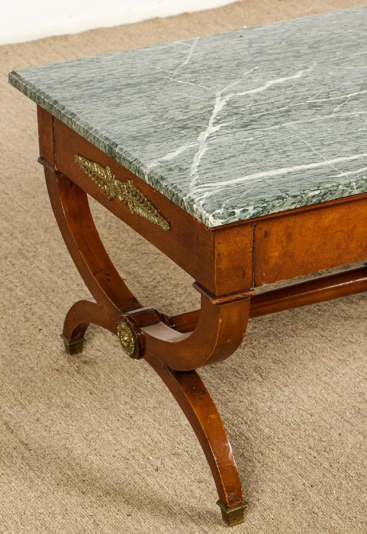 Continental Marble Top Coffee Table with Ormolu Mounts - 2