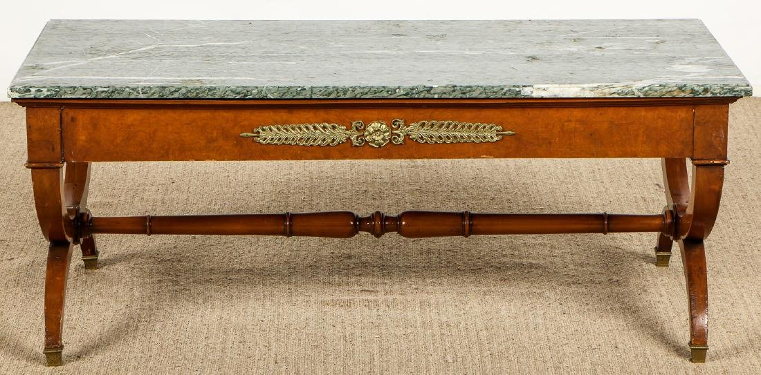 Continental Marble Top Coffee Table with Ormolu Mounts - 5