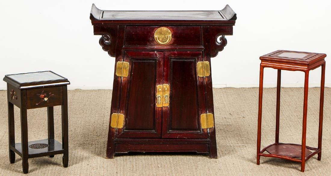 Estate Suite of 3 Asian/Chinese Furniture Items