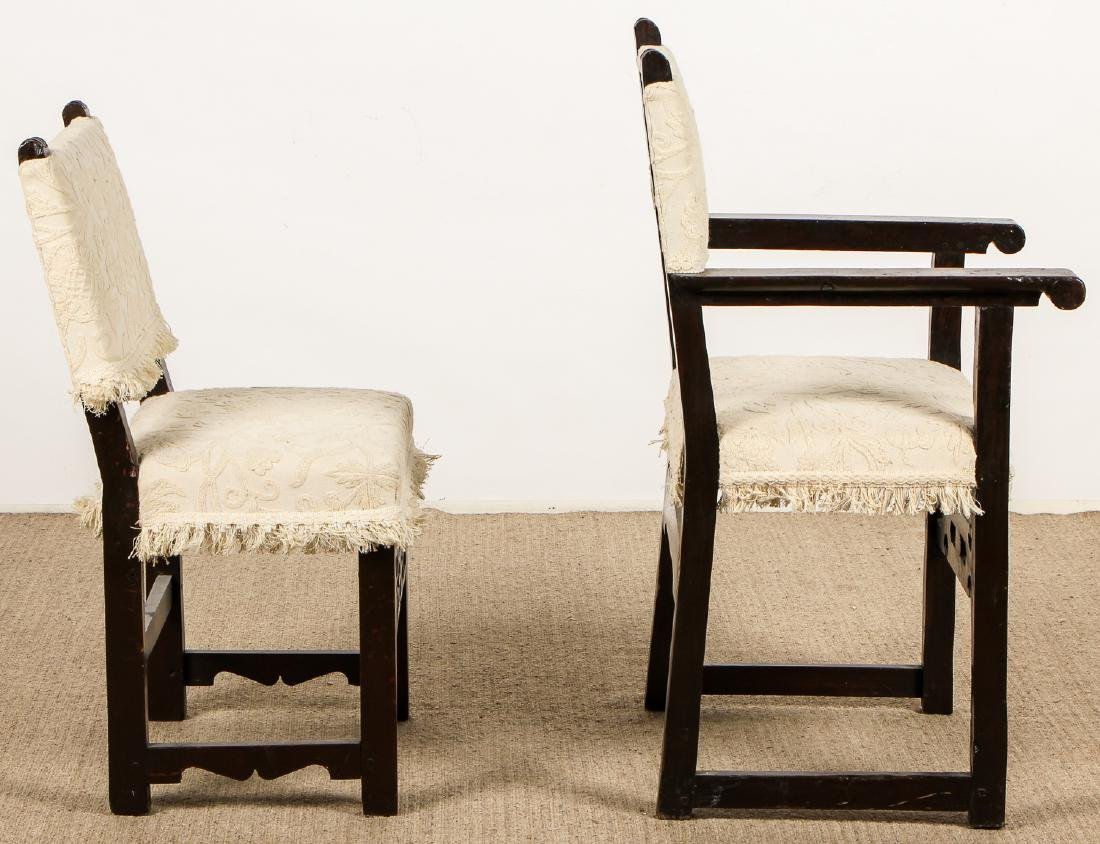 2 Antique Elizabethan Style Chairs - 5