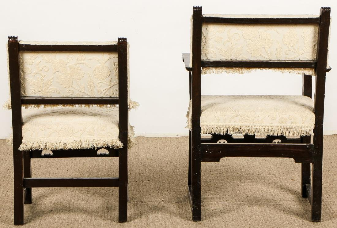 2 Antique Elizabethan Style Chairs - 6