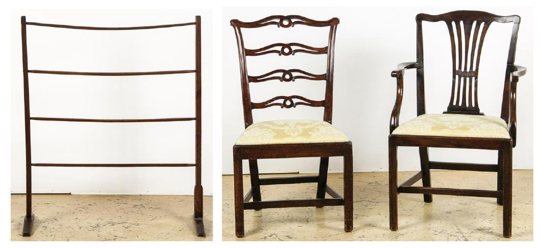 2 Antique Philadelphia/English Chairs & Shaker Quilt